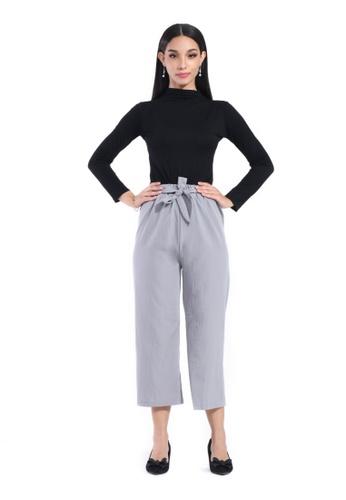 Hernani grey Drawstring Ankle Length Straight Cut Pants FD212AACA5FBCBGS_1