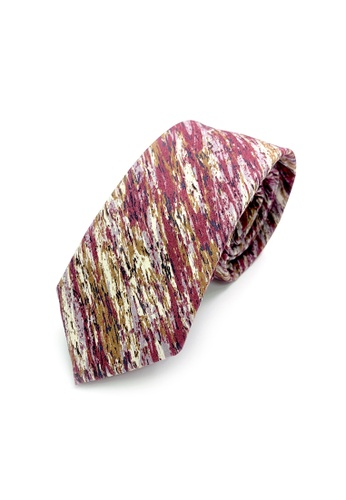 Caveman red Maroon Earth Necktie E005BACEBD8359GS_1
