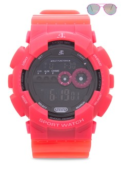 Digital Watch With Free Sunglasses JC-H1113G-SC-04