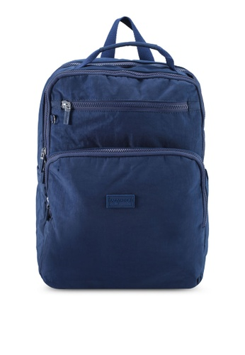 Bagstationz navy Crinkled Nylon Backpack 46F0DAC315647AGS_1
