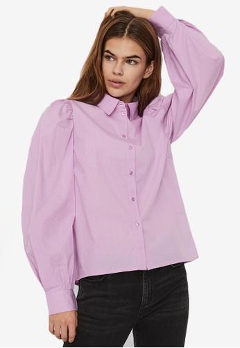 Vero Moda purple Avery Long Sleeves Shirt 90304AABB85C56GS_1