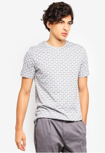 United Colors of Benetton grey Printed T-shirt. 9D0BCAAD42B905GS_1
