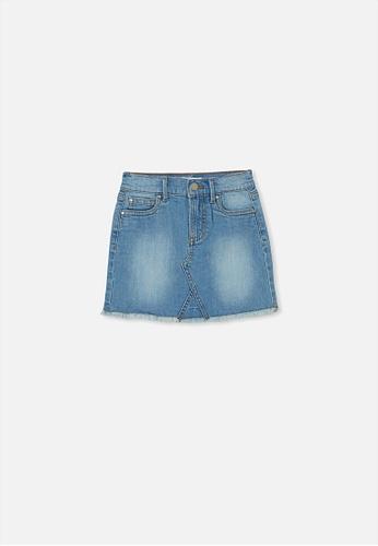 Cotton On Kids blue Finn Denim Skirt BF7C9KAF94F405GS_1