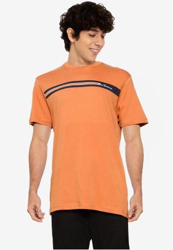 Ben Sherman orange Chest Line Tee 6691EAA37813C7GS_1