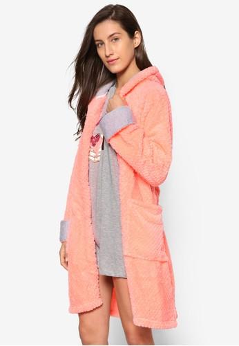 雙口袋毛巾布連帽睡袍, 服esprit hk飾, 服飾