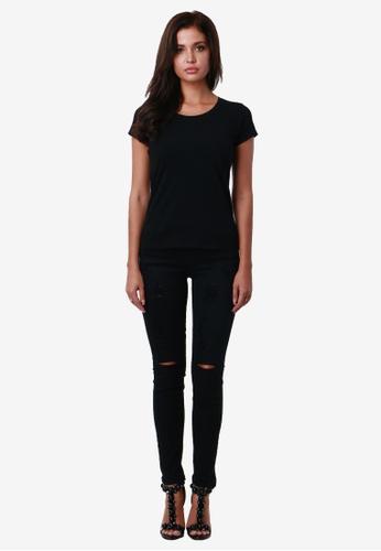 NOBASIC black Black Broken Denim Pants NO444AA0GDKESG_1