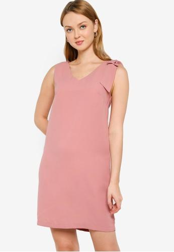 ZALORA WORK pink Bow Detail Dress E2C64AA96FA278GS_1