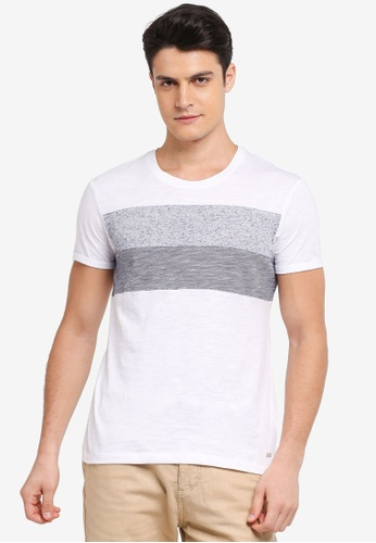 ESPRIT white Short Sleeve T-Shirt CAB46AA7D27568GS_1
