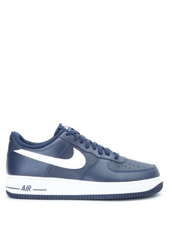 Nike navy Nike Air Force 1 '07 Shoes NI126SH0JI35PH_1
