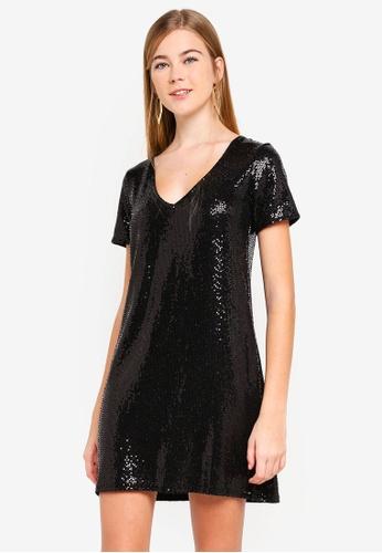 ac0743dd6c8 Buy Miss Selfridge Sequin T-Shirt Dress Online on ZALORA Singapore
