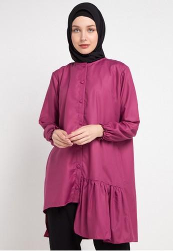 Radwah purple Aline Top 37B87AAEF3A2FDGS_1