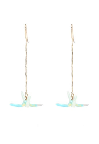 Saturation multi Resin Crane Bird Drop Earrings 2FA8DAC3110C0AGS_1