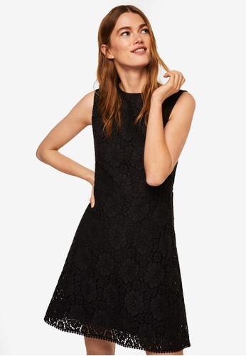 Mango black Shift Guipure Dress 37C95AA8BAE6D5GS_1