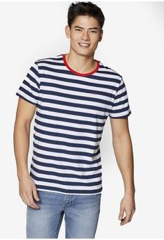 5129e04f1be33c ESPRIT navy Short Sleeve Stripe T-Shirt DEF4EAAA36EE5DGS 1