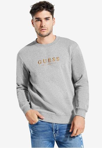 Guess 灰色 Guess Orginals Logo Sweatshirt 4AD46AA8B30E9FGS_1