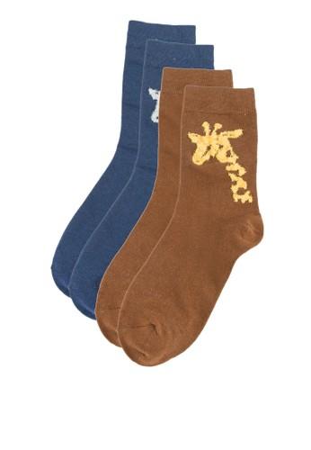 二入逗趣印花襪子zalora鞋, 服飾, 服飾