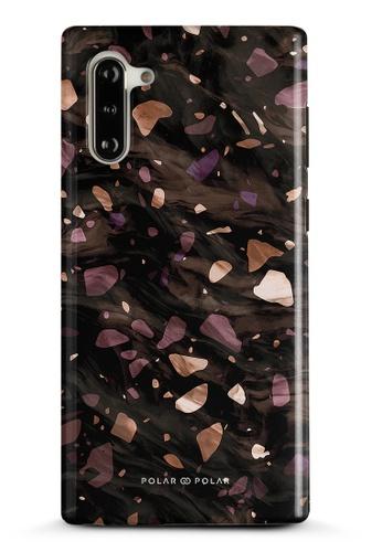 Polar Polar brown Eminence Terrazzo Gem Dual-Layer Tough Case Glossy For Samsung Galaxy Note10 DC993ACB624EF5GS_1