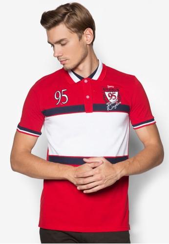 撞色拼接條紋POLesprit hk storeO 衫, 服飾, 服飾