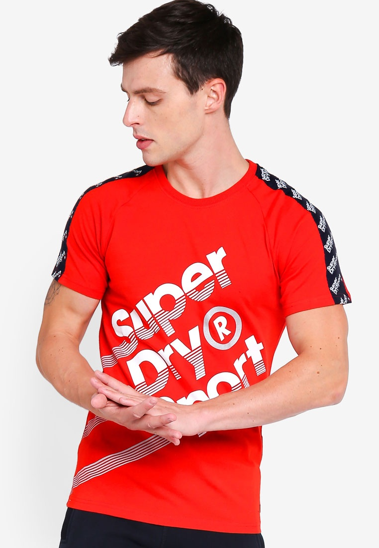 Superdry Track Red 021 Tee 021 Tee qwxFCHUn4
