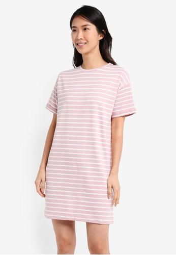 ZALORA pink and multi Essential T-Shirt Dress 79429AA9D9D5F6GS_1