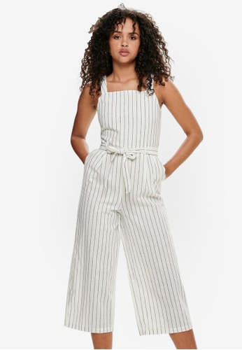 ONLY white Canyon Strap Crop Jumpsuit 434D1AA6888252GS_1