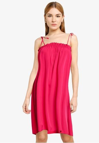 Vero Moda red and purple Clair Dress CB55FAA36CD3ADGS_1