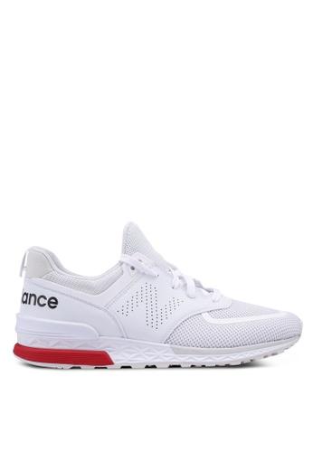 New Balance white 574 Lifestyle Shoes 64C31SH6B7BF97GS_1