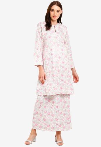 Butik Sireh Pinang white and pink and multi Nadeera Kurung Pahang 0C44EAA77821FCGS_1