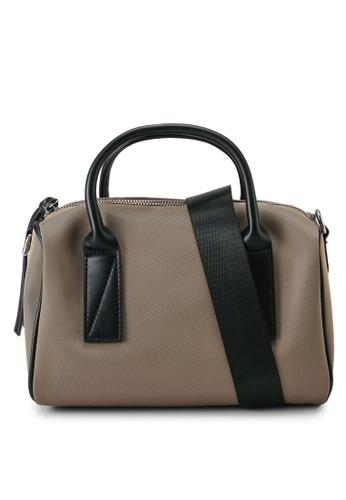 NUVEAU brown Oxford Nylon Convertible Boston Bag 8253FAC84A1C27GS_1