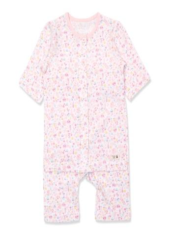 Organic mom pink Organic Cotton Katie Floral 3/4 length sleeves  PJs AC278KA41D58D9GS_1