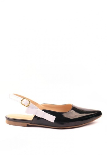 HDY black Grace Pointed Toe Sandals 82F48SH7C80A97GS_1