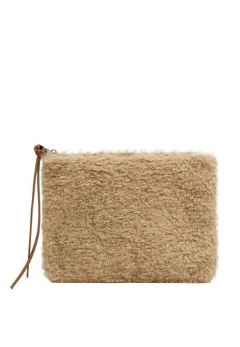 Mango beige Zippered Hair Bag 4B509AC315164AGS_1