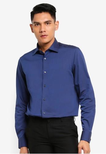 OVS blue Long Sleeve Casual Shirt 2E7B5AAF1A2E23GS_1