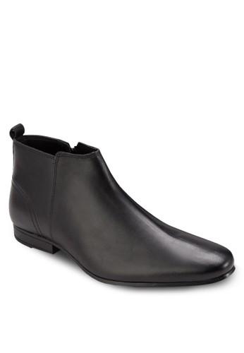 尖頭esprit outlet 家樂福皮革筒靴, 鞋, 鞋