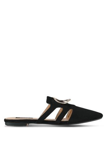 ZALORA black Buckle Detail Flats 92519SH76942E7GS_1
