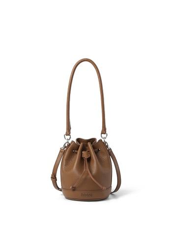 RABEANCO brown RABEANCO RIE Mini Bucket Bag - Caramel 07E18ACD24261CGS_1