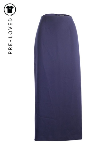 Club Monaco blue Pre-Loved club monaco Back Midi Skirt E8FB0AA52AEEC7GS_1