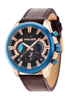 Pl14639jsbu02 Black Jual Strap Leather Cyclone Police reEoCQdxBW