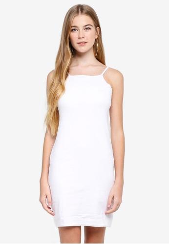 Supre white High Neck Strappy Mini Dress 9BCEFAABC82556GS_1