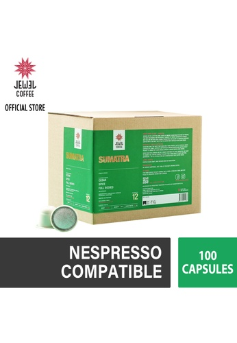 Jewel Coffee green Jewel Coffee Specialty Coffee Nespresso Capsules - Sumatra (Box Of 100) 3BB40ES86A30ACGS_1