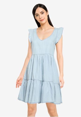 Springfield blue Tencel Cotton Denim Dress FE051AA5278F32GS_1