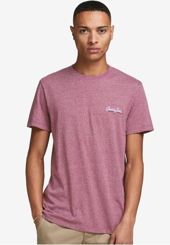Jack & Jones pink Tons Short Sleeves Crew Neck Tee A2D26AA3BCBDBBGS_1