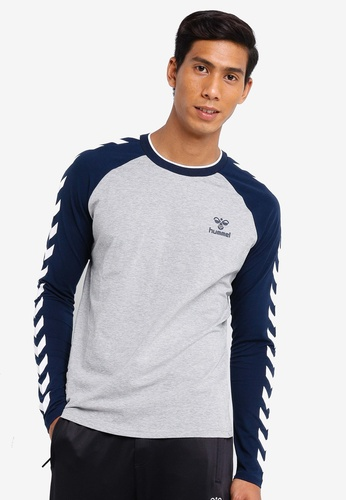 Hummel grey Hummel Mark Long Sleeve T-Shirt D809EAA86C21E4GS_1