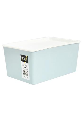 HOUZE blue HOUZE - 12L Linear Box with Lid - Blue E9C10HL97785D9GS_1