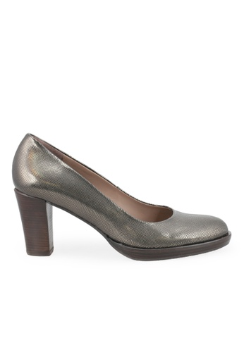 Shu Talk grey and silver Zinda Comfortable Classic Blocked Heels 6E4EDSHB3CB95EGS_1