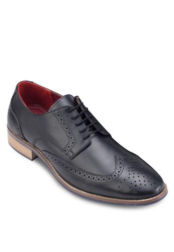 雕花繫帶皮esprit outlet 旺角鞋, 鞋, 鞋