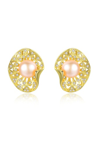 A.Excellence pink Premium Pink Pearl Elegant Earring 1A092ACB87A751GS_1