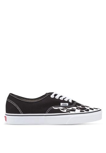VANS black Authentic Checker Flame Sneakers 04C35SH1F235A8GS_1