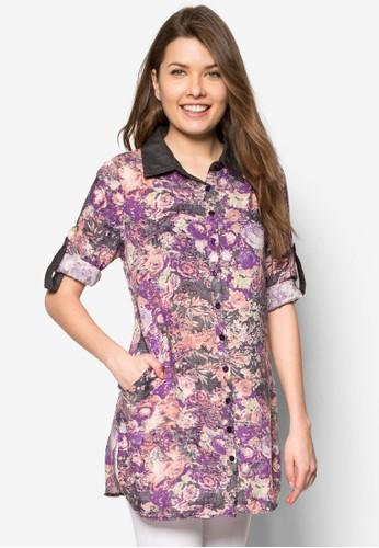 花卉長esprit 寢具袖上衣, 服飾, 上衣