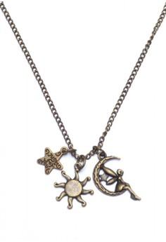 Star Sun Moon Fairy Long Necklace